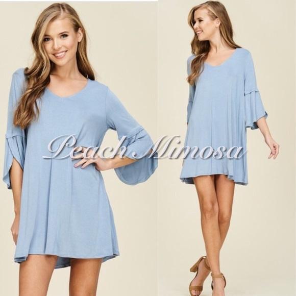 c7053de7d4e Dresses | Split Bell Cuff Tunic Dress | Poshmark